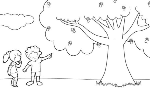 Dibujos Del Día Del árbol Para Imprimir Y Colorear