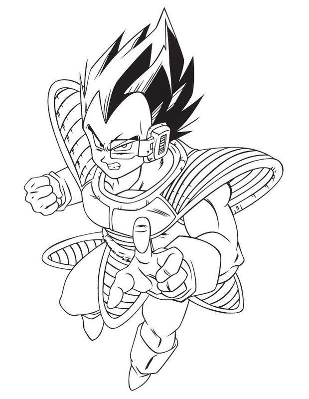 Dibujos De Dragon Ball Z Goku Y Vegeta Para Colorear