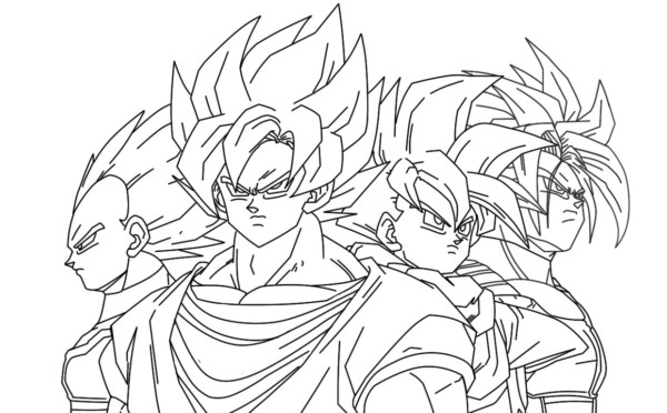 Goku Niño Para Colorear: Dibujos De Dragon Ball Z, Goku Y Vegeta Para Colorear