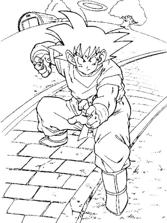 Dibujos de Dragon Ball Z, Goku y Vegeta para colorear | Colorear ...