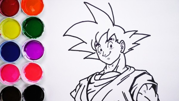 Dibujos De Dragon Ball Z, Goku Y Vegeta Para Colorear