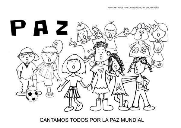 Imágenes Para Colorear Dibujos Del Día De La Paz: Dibujos Del Día De La Paz Para