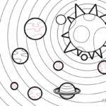 Dibujos del Sistema Solar y sus Planetas para colorear