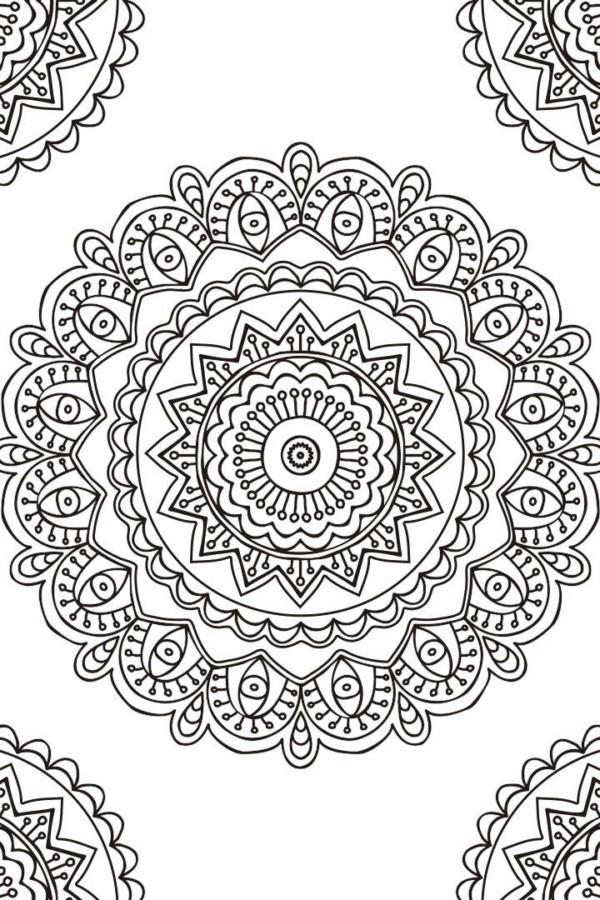 Dibujos de MANDALAS para Colorear (Fáciles y Difíciles ...