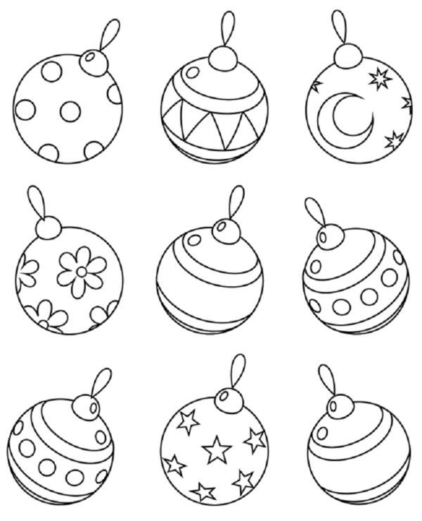 Imagenes Bolas De Navidad Para Colorear.Bolas De Navidad Para Colorear 40 Dibujos Colorear Imagenes