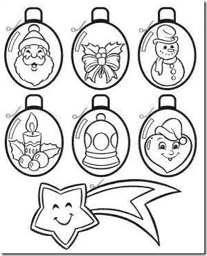 Bolas De Navidad Para Colorear 40 Dibujos Colorear Imagenes