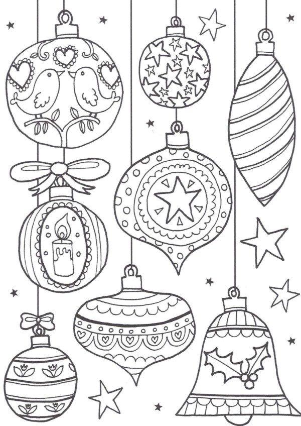 Bolas De Navidad Dibujos Para Colorear.Bolas De Navidad Para Colorear 40 Dibujos Colorear Imagenes