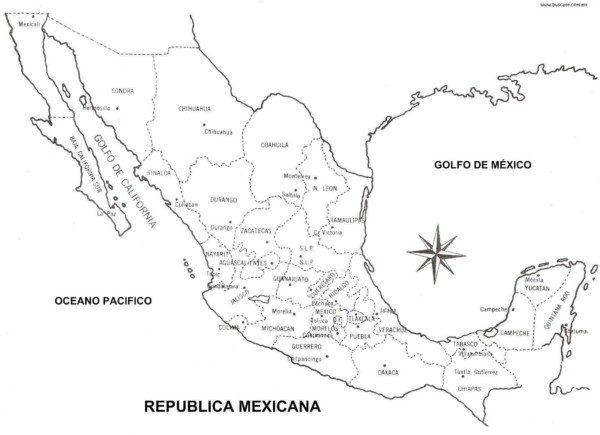 Mapas De México Para Colorear E Imprimir Colorear Imágenes