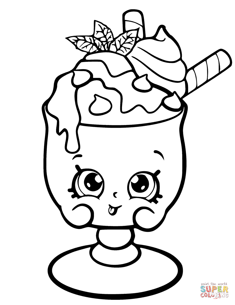 suzie sundae coloring pages - photo#25