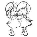 Dibujos de mejores amigas para colorear e imprimir