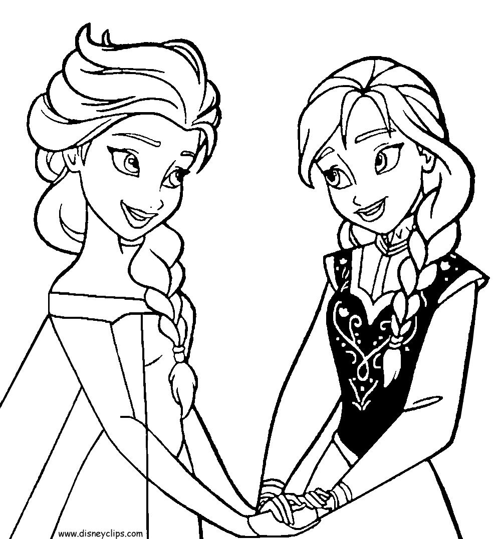 Personajes De Frozen Para Colorear Colorear Imágenes