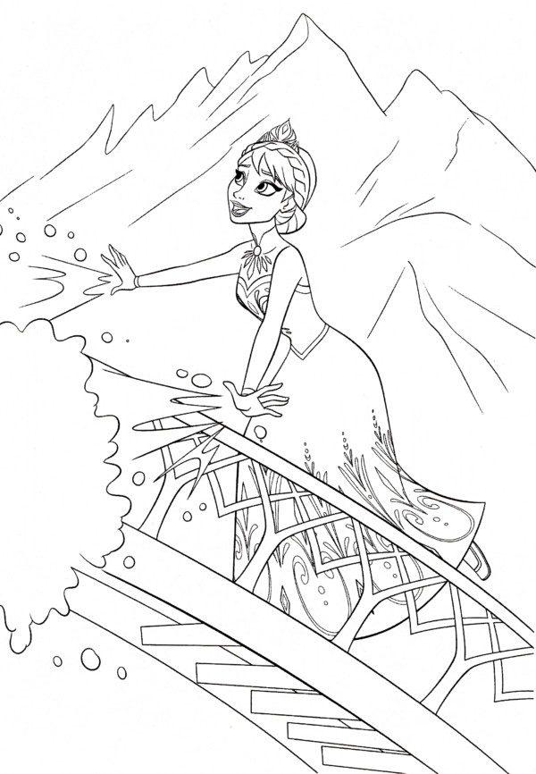 Personajes De Frozen Para Colorear Colorear Imagenes