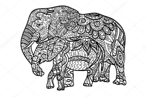 Imagenes De Mandalas Para Colorear De Animales: Dibujos Para Colorear MANDALAS De Animales
