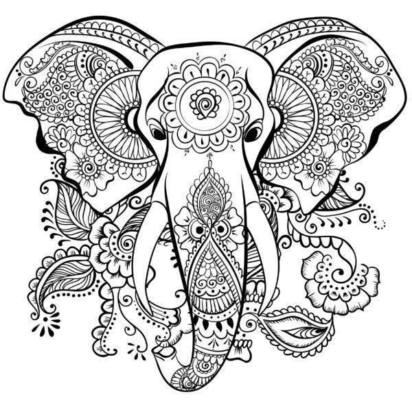 Dibujos Para Colorear Mandalas De Animales Colorear Imágenes