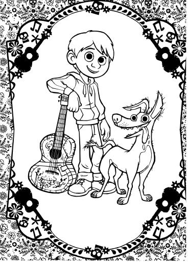 Personajes De Coco Para Colorear Colorear Imágenes