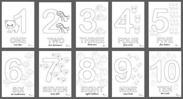 Números En Ingles Para Colorear E Imprimir Colorear Imágenes