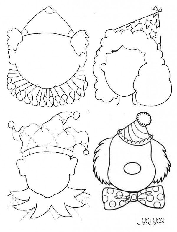 Dibujos Payasos Para Colorear Colorear Imágenes