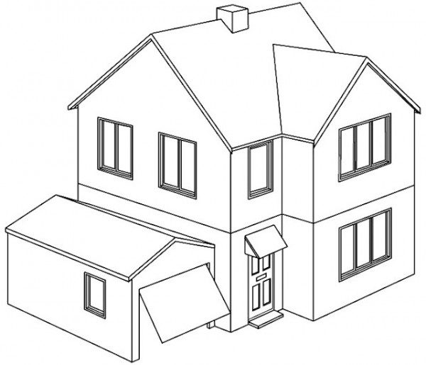 Dibujos De Casas Para Colorear Edificios Castillos Cabañas