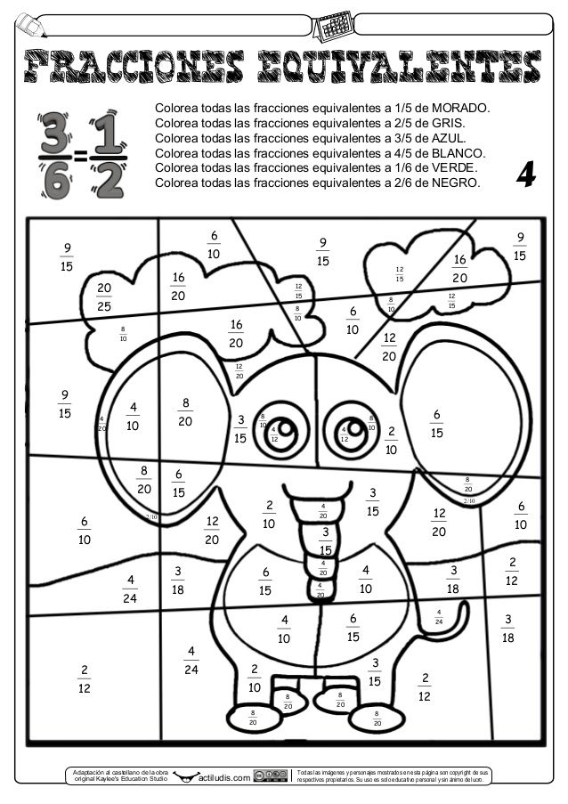 ejercicios fracciones equivalentes 3 eso pdf
