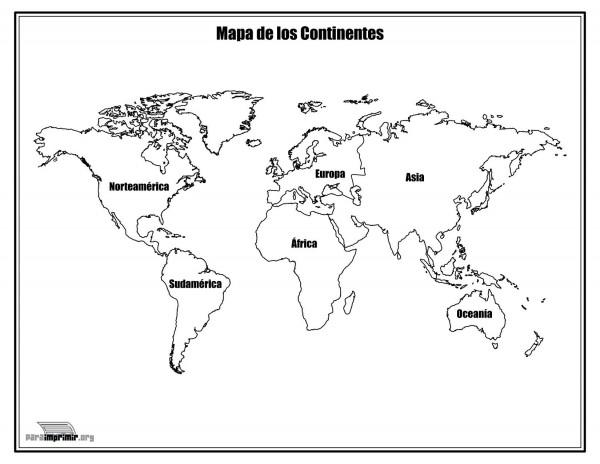 Dibujos De Mapa Del Mundo Mapamundi Y Planisferio Para
