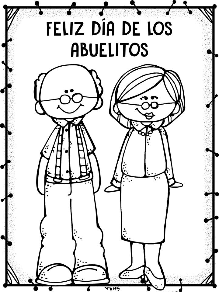 Dibujos De Abuelos Para Colorear Descargar E Imprimir