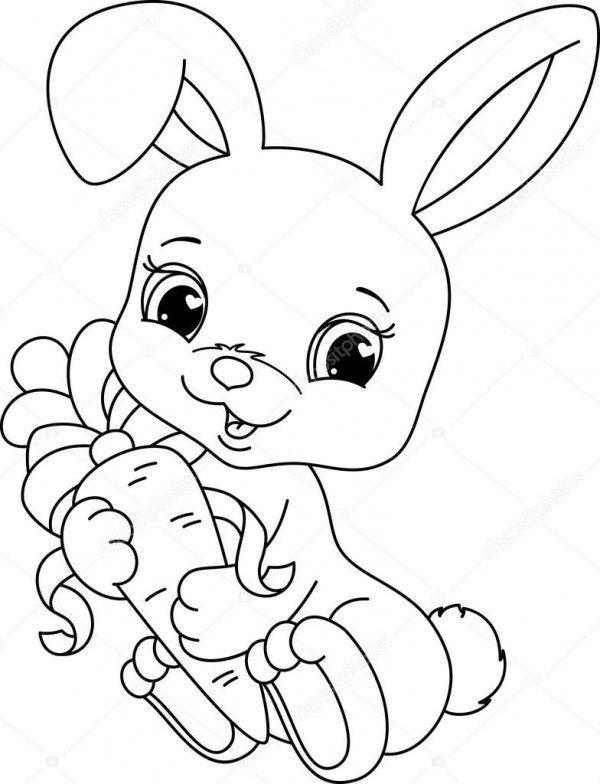 Dibujos De Conejos Para Colorear Imagenes Para Imprimir Y Pintar Colorear Imagenes Razones para comer zanahoria como conejos. dibujos de conejos para colorear