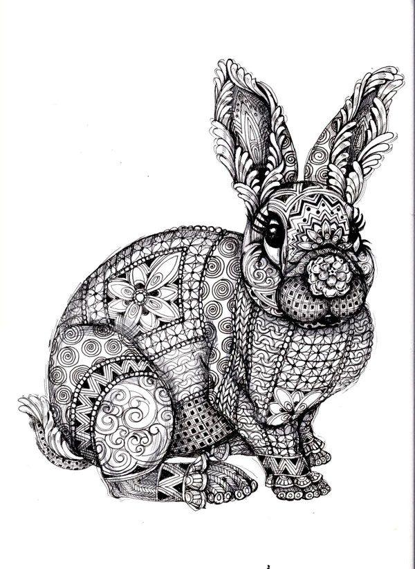 Dibujos de Conejos para colorear ★ Imágenes para imprimir ...