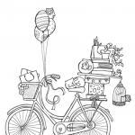 Dibujos de Bicicletas para colorear, descargar e imprimir