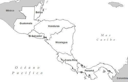 Mapa De Centro America.Mapa De Centroamerica Para Colorear Kozen Jasonkellyphoto Co