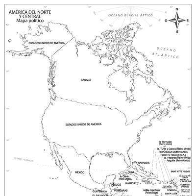 Mapas De América Para Colorear Y Descargar Colorear Imágenes