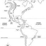 Mapas de América para colorear