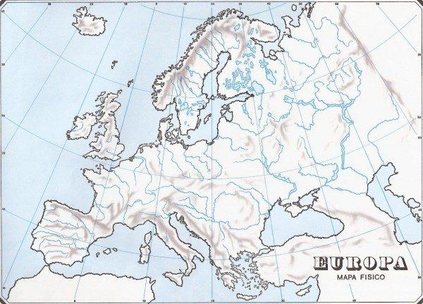 Mapas De Europa Para Descargar Y Colorear Colorear Imagenes