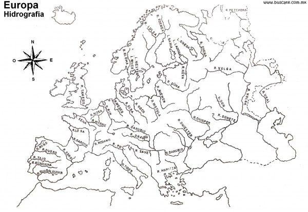 Mapas De Europa Para Descargar Y Colorear Colorear Imágenes