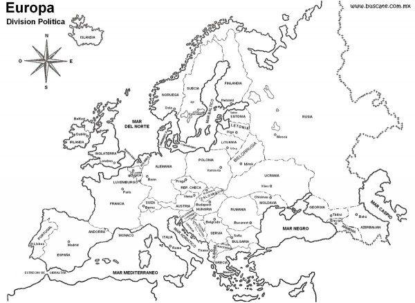 Mapa Europa Para Imprimir.Mapas De Europa Para Descargar Y Colorear Colorear Imagenes