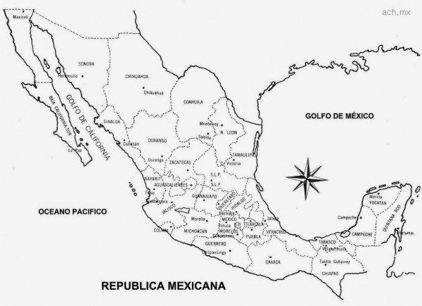 Mapas De México Para Descargar Y Colorear Colorear Imágenes