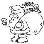 Dibujos de Papá Noel o Santa Claus para colorear