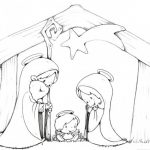 Dibujos de Pesebres Navideños para colorear