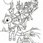 Dibujos de Renos Navideños para colorear