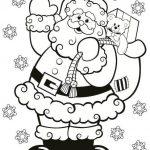 Dibujos Kawaii de navidad para colorear