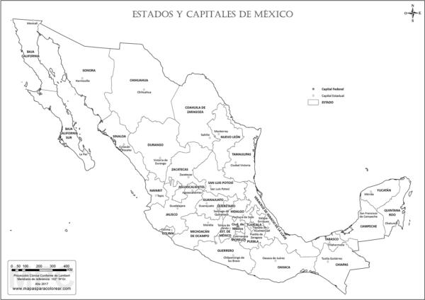 Mapas Del Estado De Mexico Para Descargar Y Colorear Colorear Imagenes