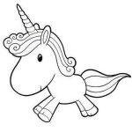 Dibujos de unicornios Kawaii para colorear, descargar e imprimir