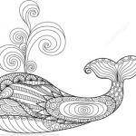 Dibujos de Ballenas para colorear, descargar e imprimir
