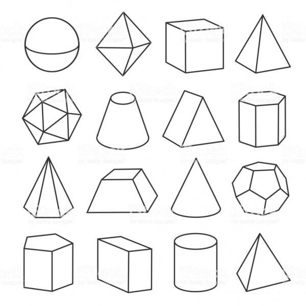 Dibujos De Formas Geometricas 3d Para Colorear Descargar E