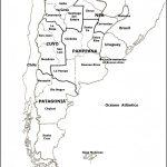 Mapas del Argentina para colorear