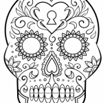 Dibujos de calaveras bonitas para colorear e imprimir