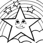 Dibujos de estrellas bonitas y grandes para colorear e imprimir