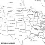 Mapas de Estados Unidos para colorear