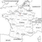 Mapas de Francia para colorear