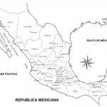Mapas del estado de México con municipios para colorear