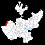 Mapas de Jalisco con municipios para colorear